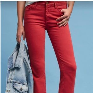 Anthropologie Pilcro Jeans in Red